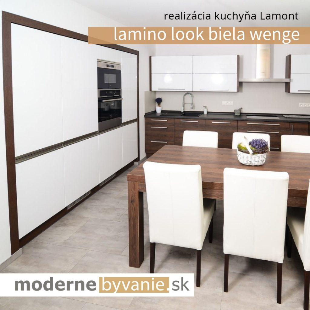 Kuchyna Lamont Look biela wenge