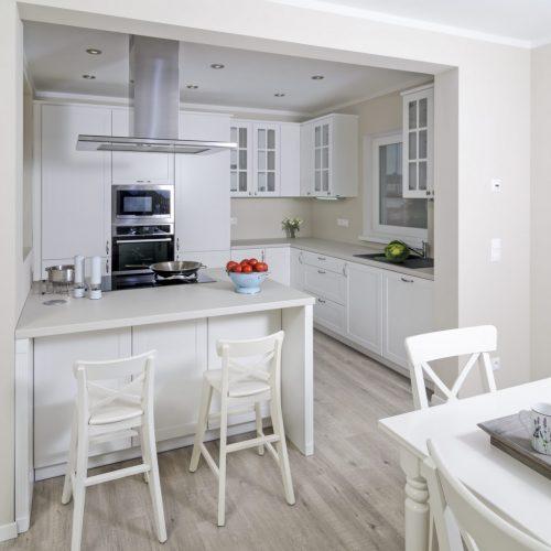 Kuchyna Lamont Klasik biela so špeciálnými dvierkami
