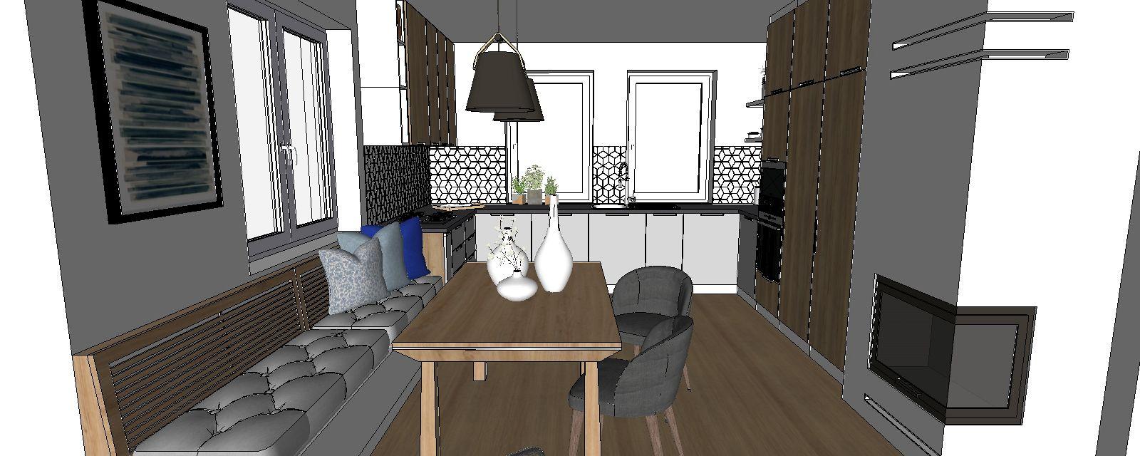 3d návrh interiéru kuchyňa