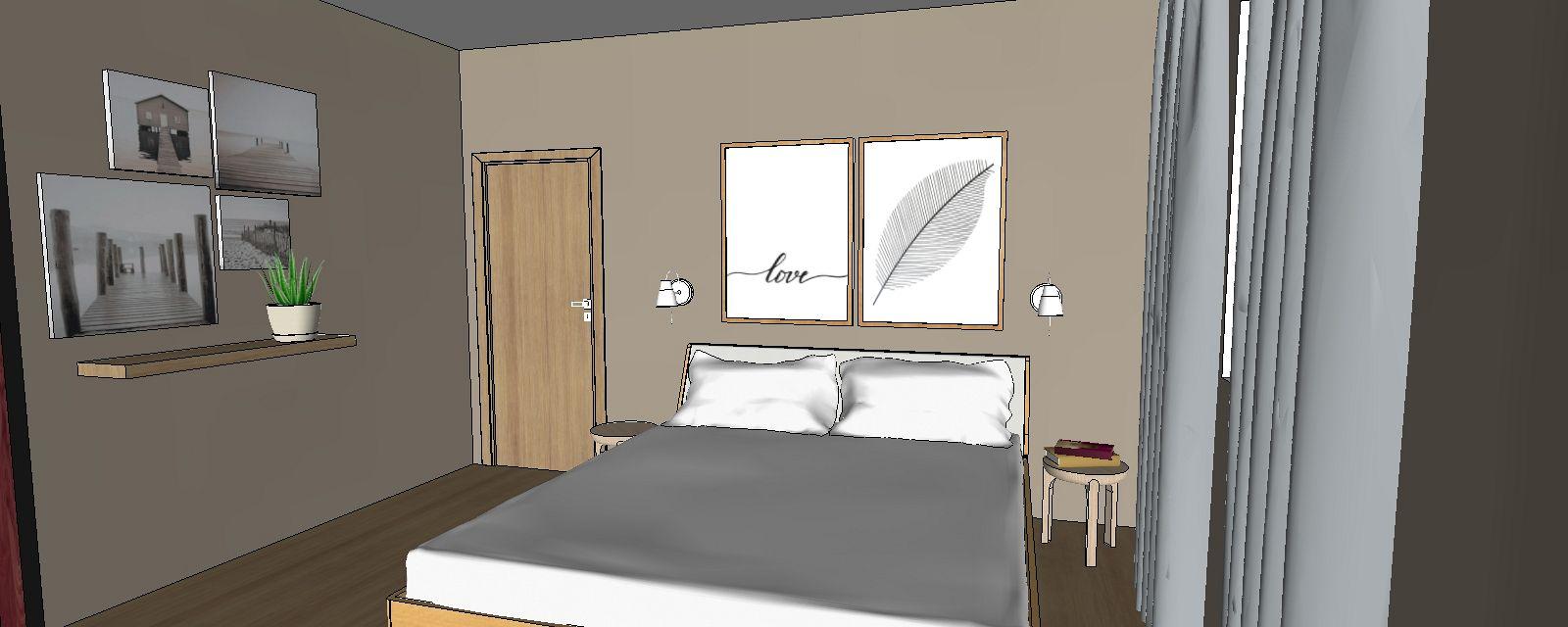 3d návrh interiéru spálňa