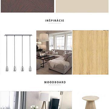 Ideový návrh interiéru + moodboard