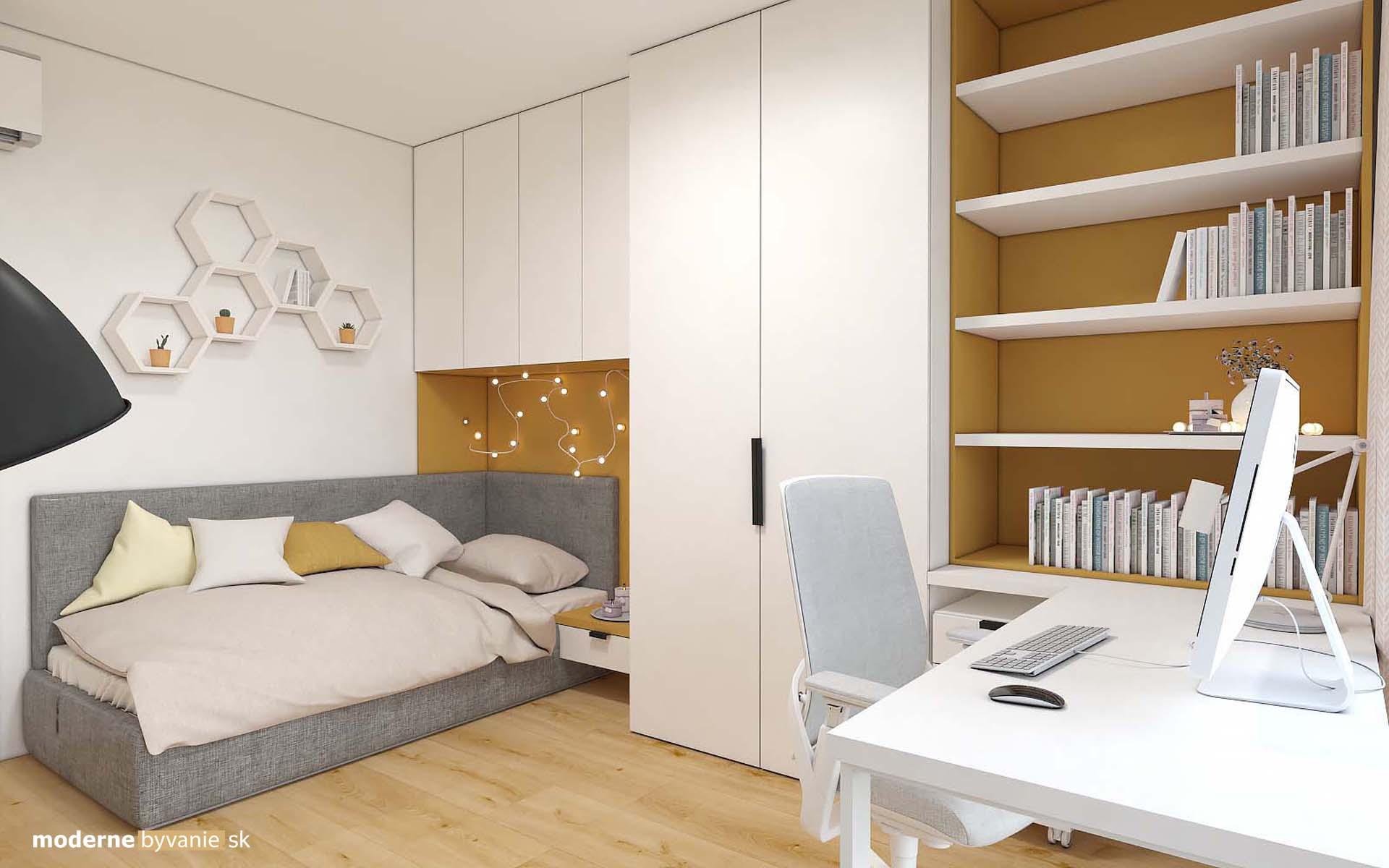 """Návrh interiéru - študentská izba projekt """"Pekná vyhliadka"""""""