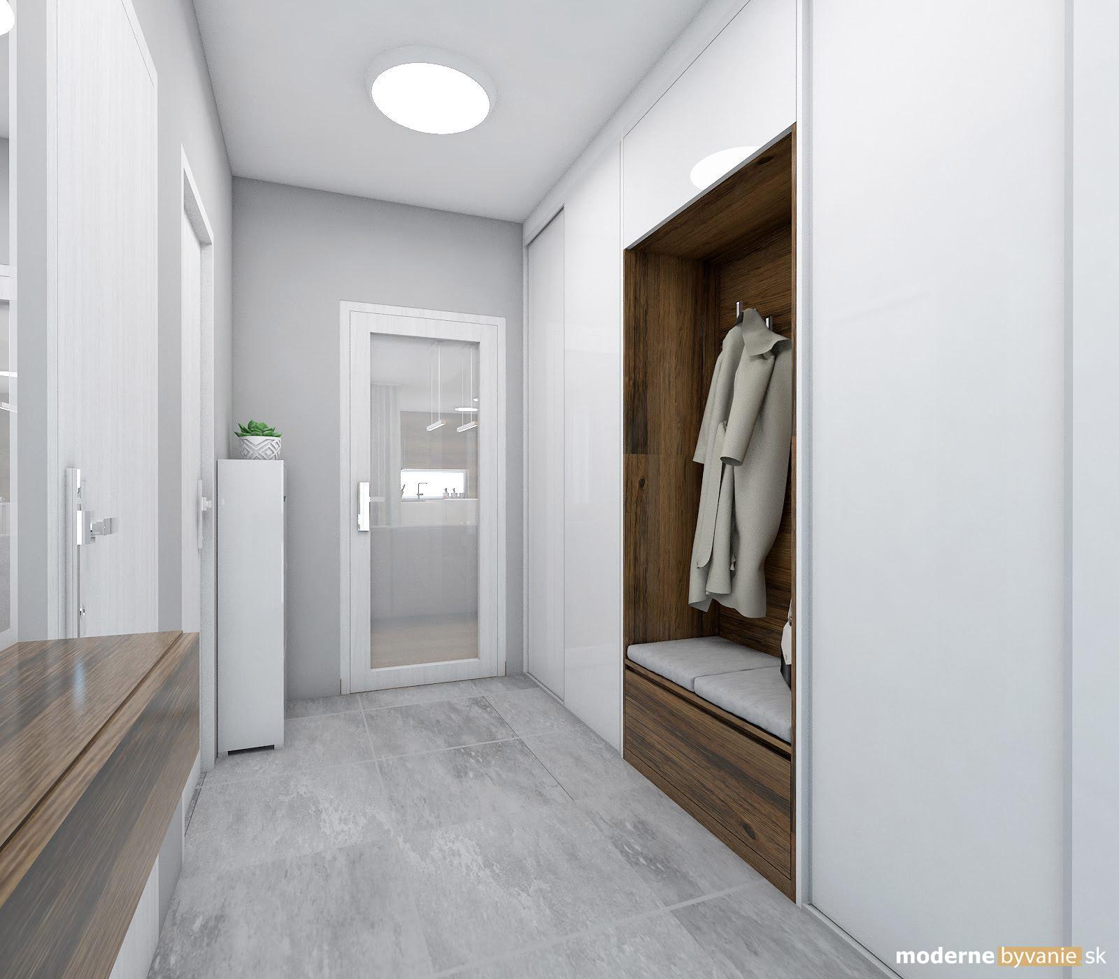 Návrh interiéru - Vstupná chodba - Elegantný nadčasový interiér