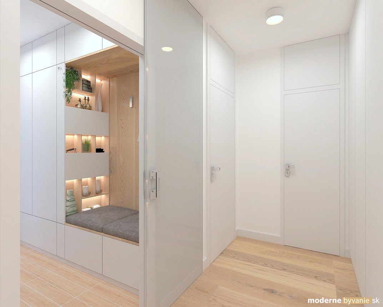 Návrh interiéru - Vstupná chodba - Príjemný škandinávsky dizajn