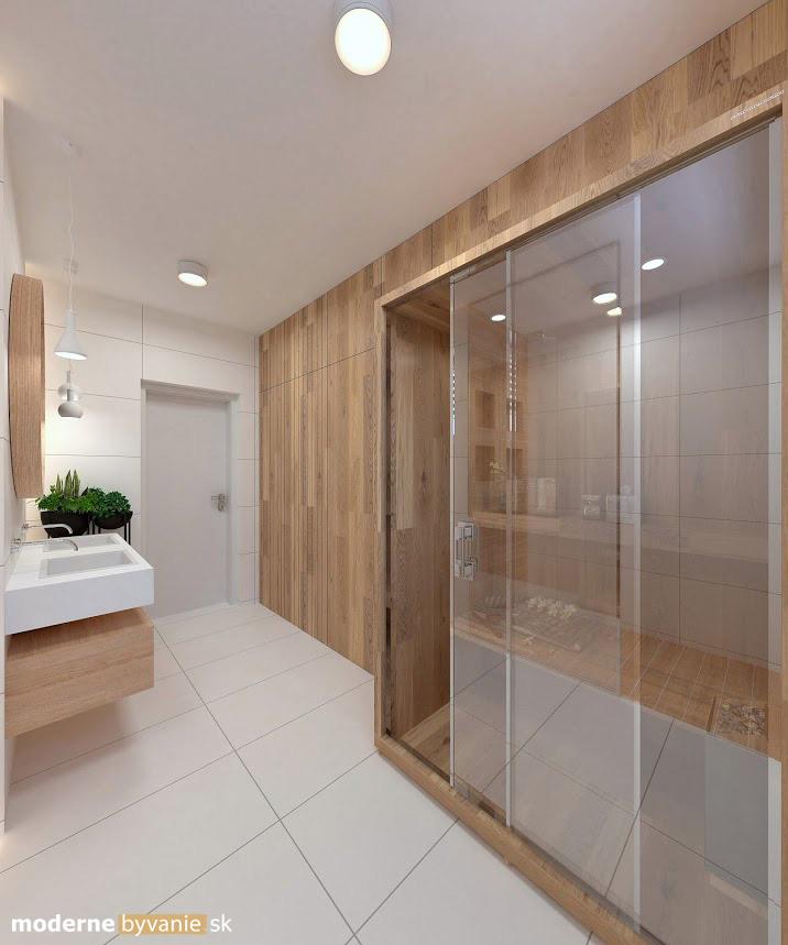 Návrh interiéru - Kúpelňa so saunou- Príjemný škandinávsky dizajn