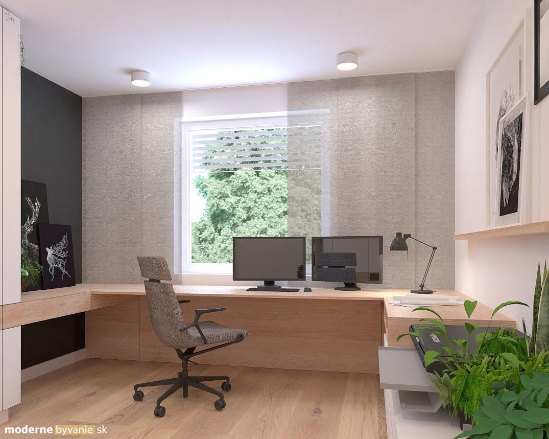 Návrh interiéru - Pracovňa- Príjemný škandinávsky dizajn