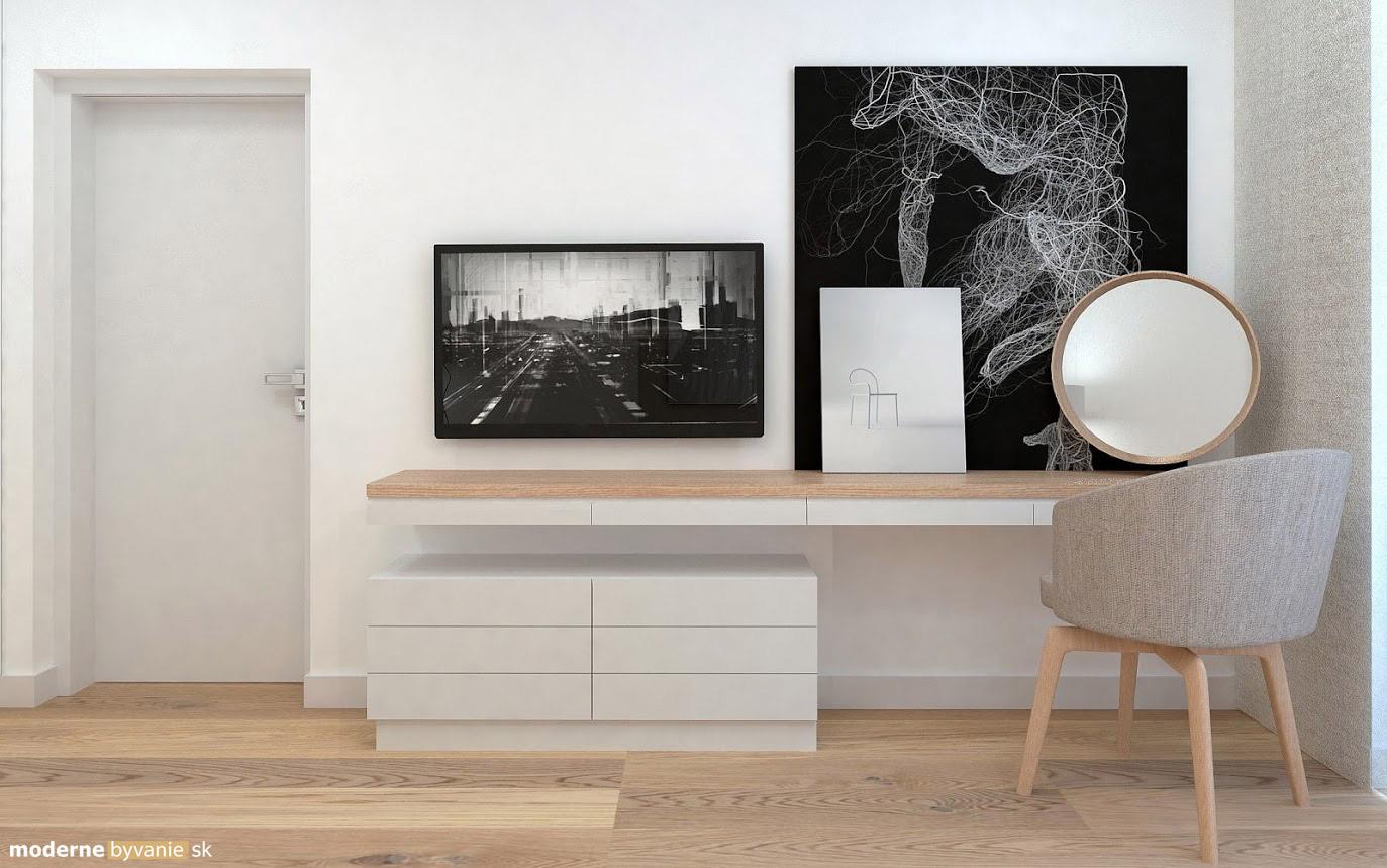 Návrh interiéru - Spálňa- Príjemný škandinávsky dizajn