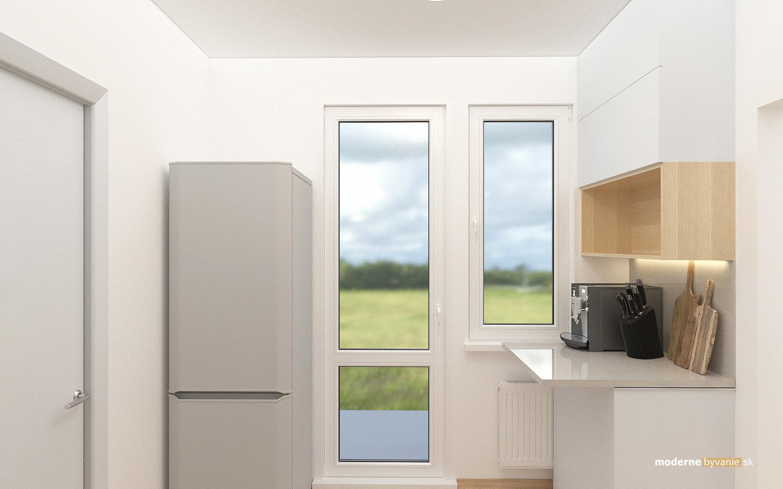 Návrh interiéru-Kuchyňa-Rekonštrukcia 4 izbového bytu v Dúbravke