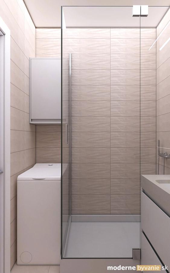 Návrh interiéru-Kúpeľňa-Rekonštrukcia 4 izbového bytu v Dúbravke