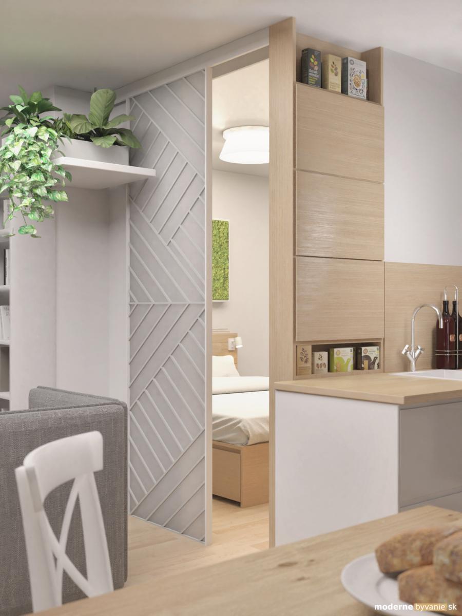 Návrh interiéru - Hosťovská izba - Vytvorenie hosťovskej izby v byte