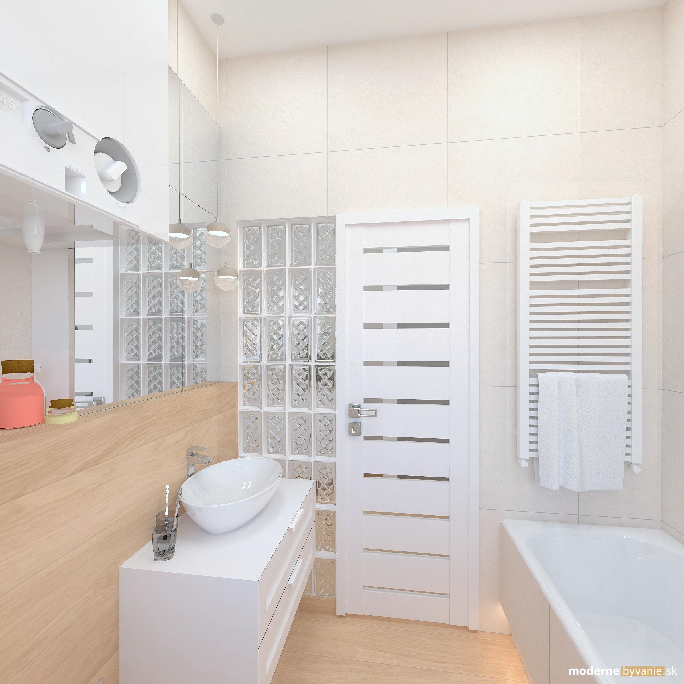 Návrh interiéru - Kúpelňa - Bytový dizajn malého bytu s veľkou izbou