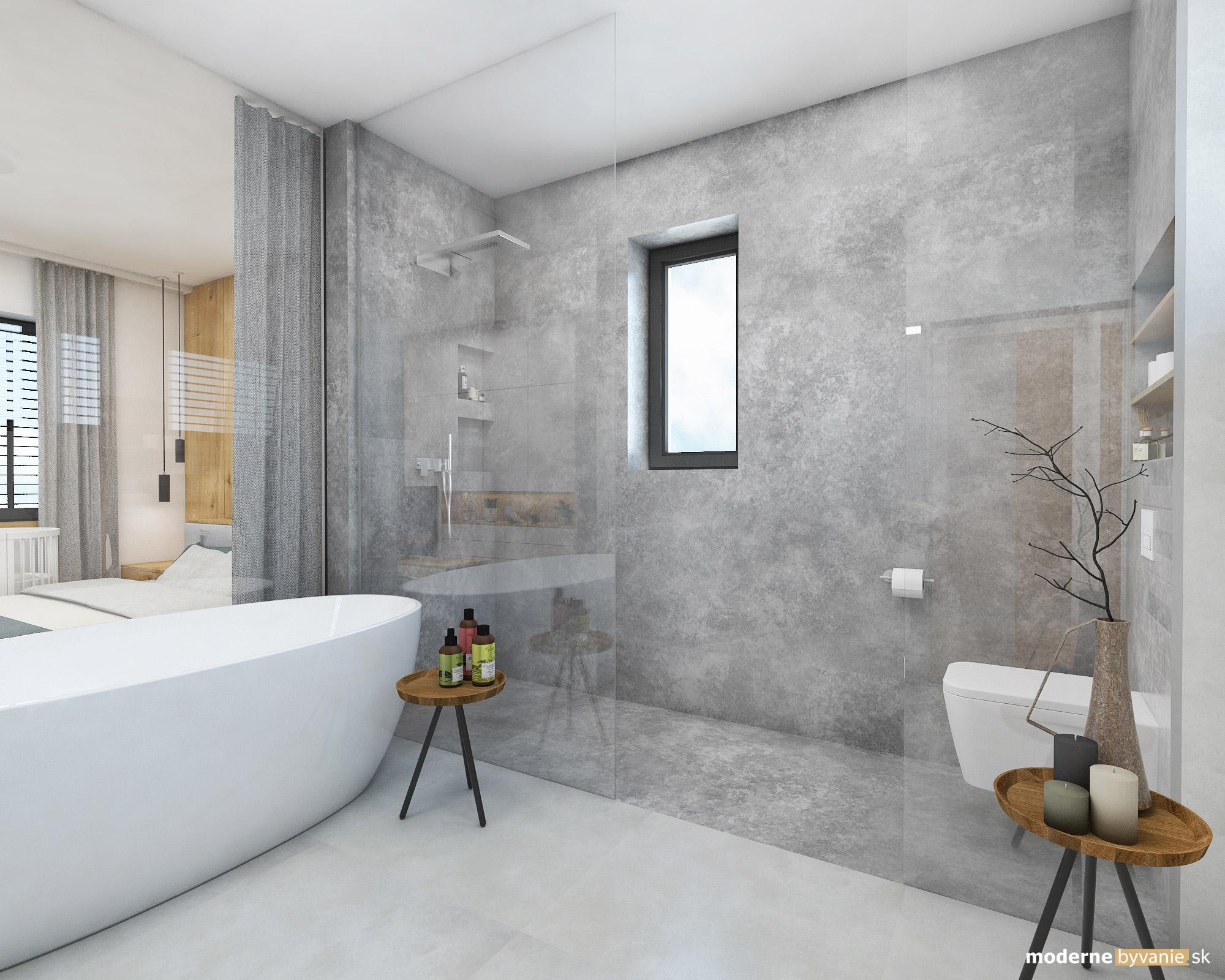 Návrh interiéru - Kúpelňa - Dizajn interiéru domu v Tatrách
