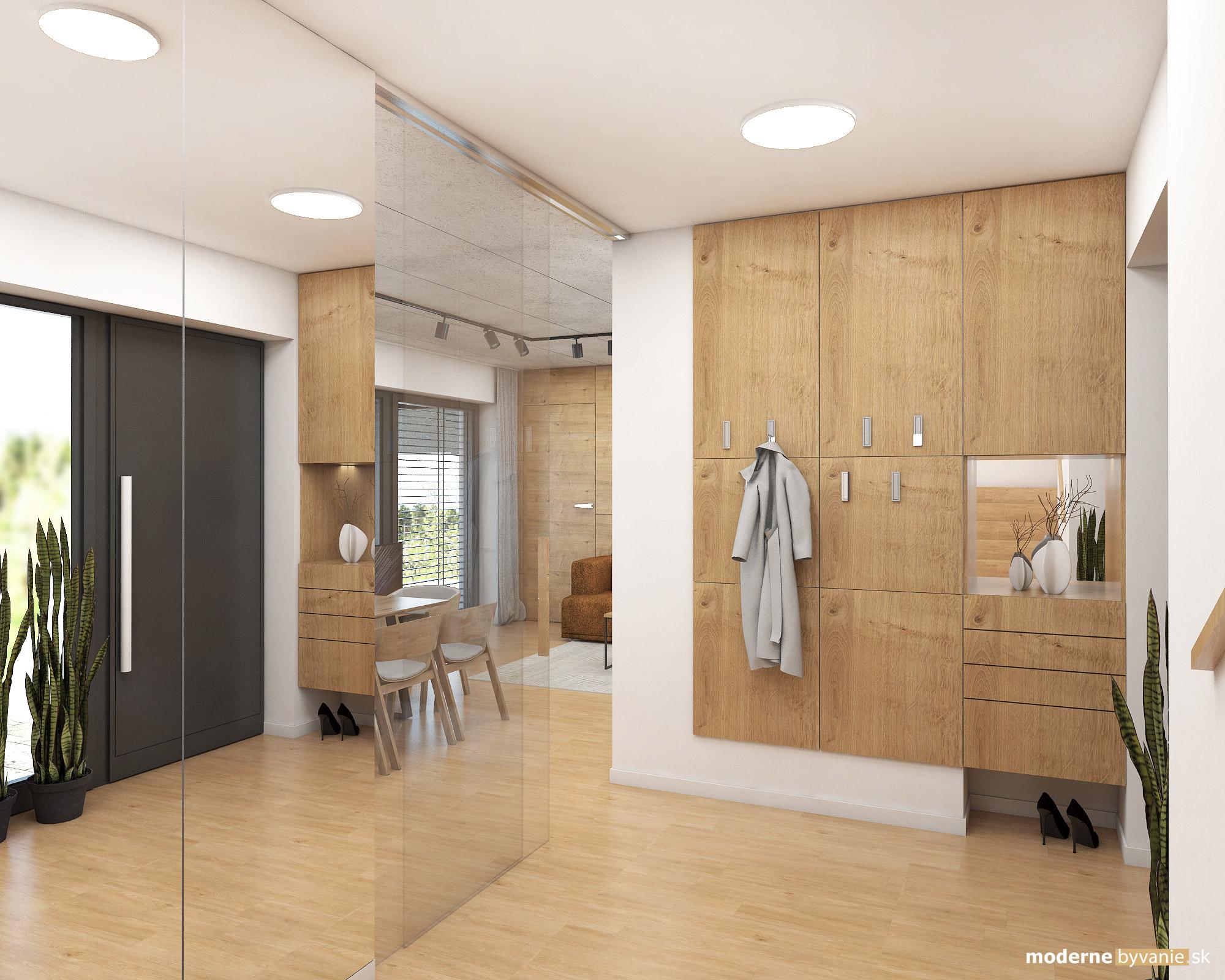 Návrh interiéru - Chodba - Dizajn interiéru domu v Tatrách