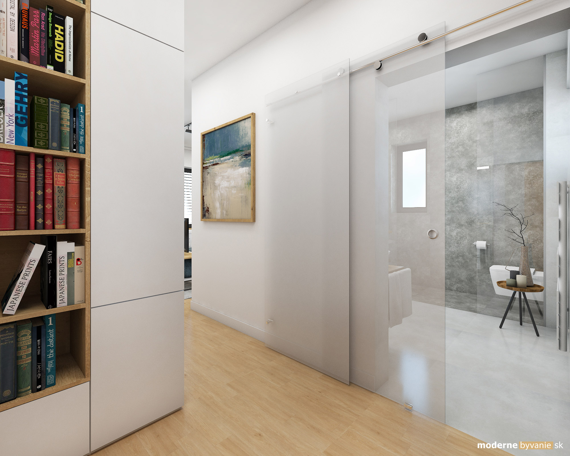 Návrh interiéru - Spálňa s kúpelňou - Dizajn interiéru domu v Tatrách