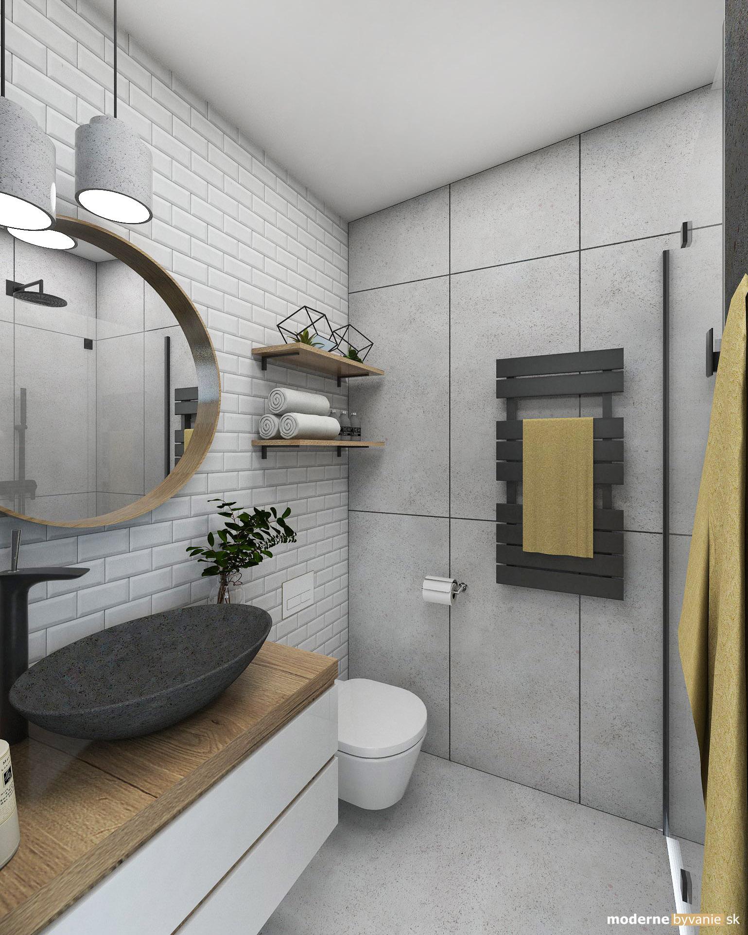 Návrh interiéru - Kúpelňa - Dobrý interiérový architekt aj záhradný domček navrhne