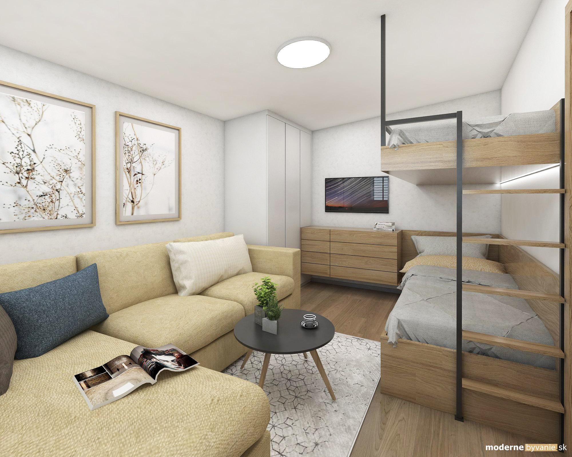 Návrh interiéru - Spálňa - Dobrý interiérový architekt aj záhradný domček navrhne