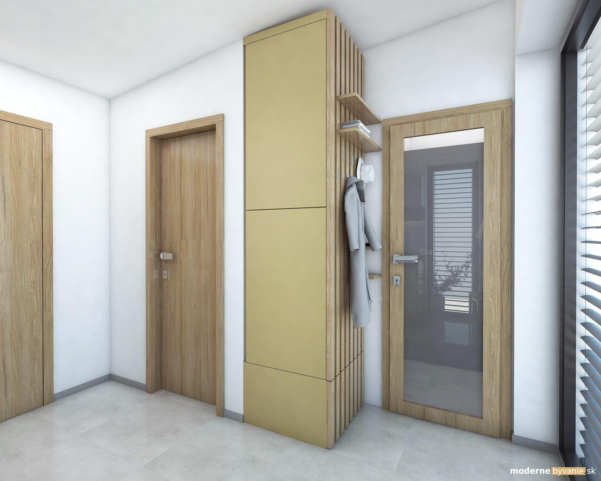 Návrh interiéru - Chodba - Dobrý interiérový architekt aj záhradný domček navrhne