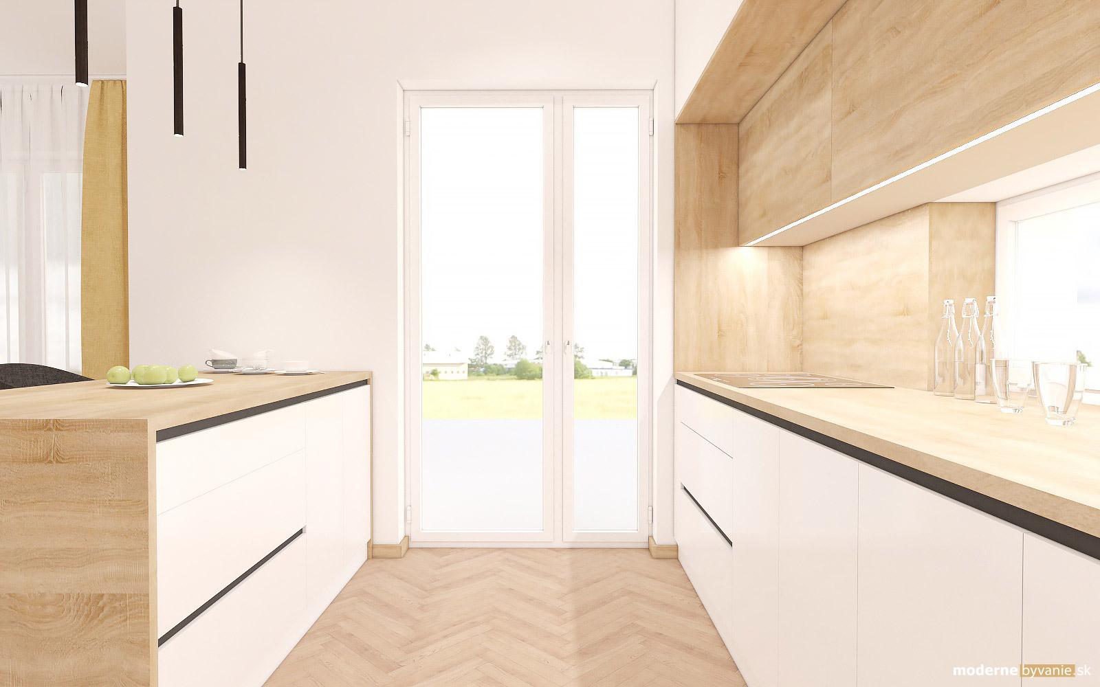 Návrh interiéru-Kuchyňa-Návrh interiéru domu v Cíferi