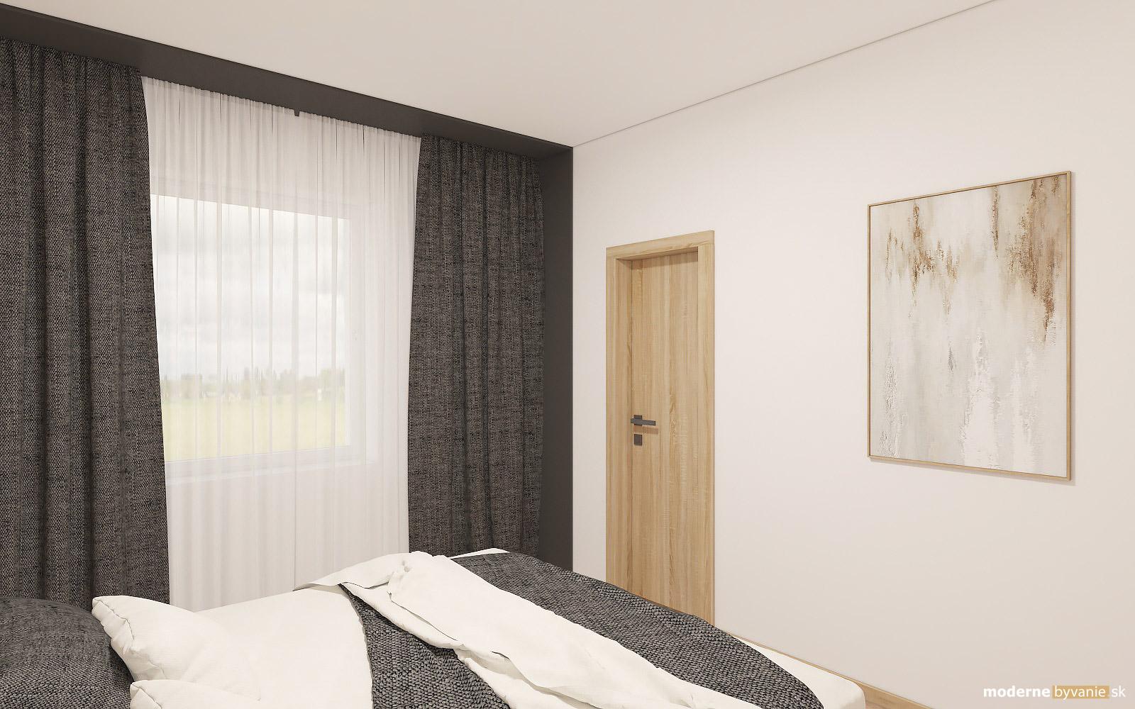 Návrh interiéru-Spálňa-Návrh interiéru domu v Cíferi