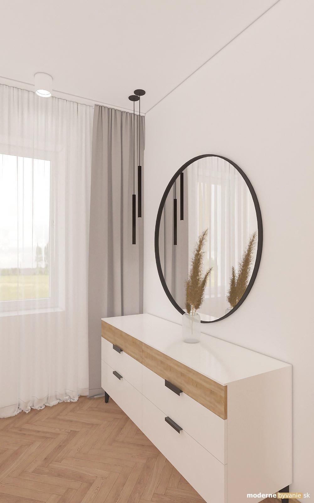 Návrh interiéru-Šatník-Návrh interiéru domu v Cíferi