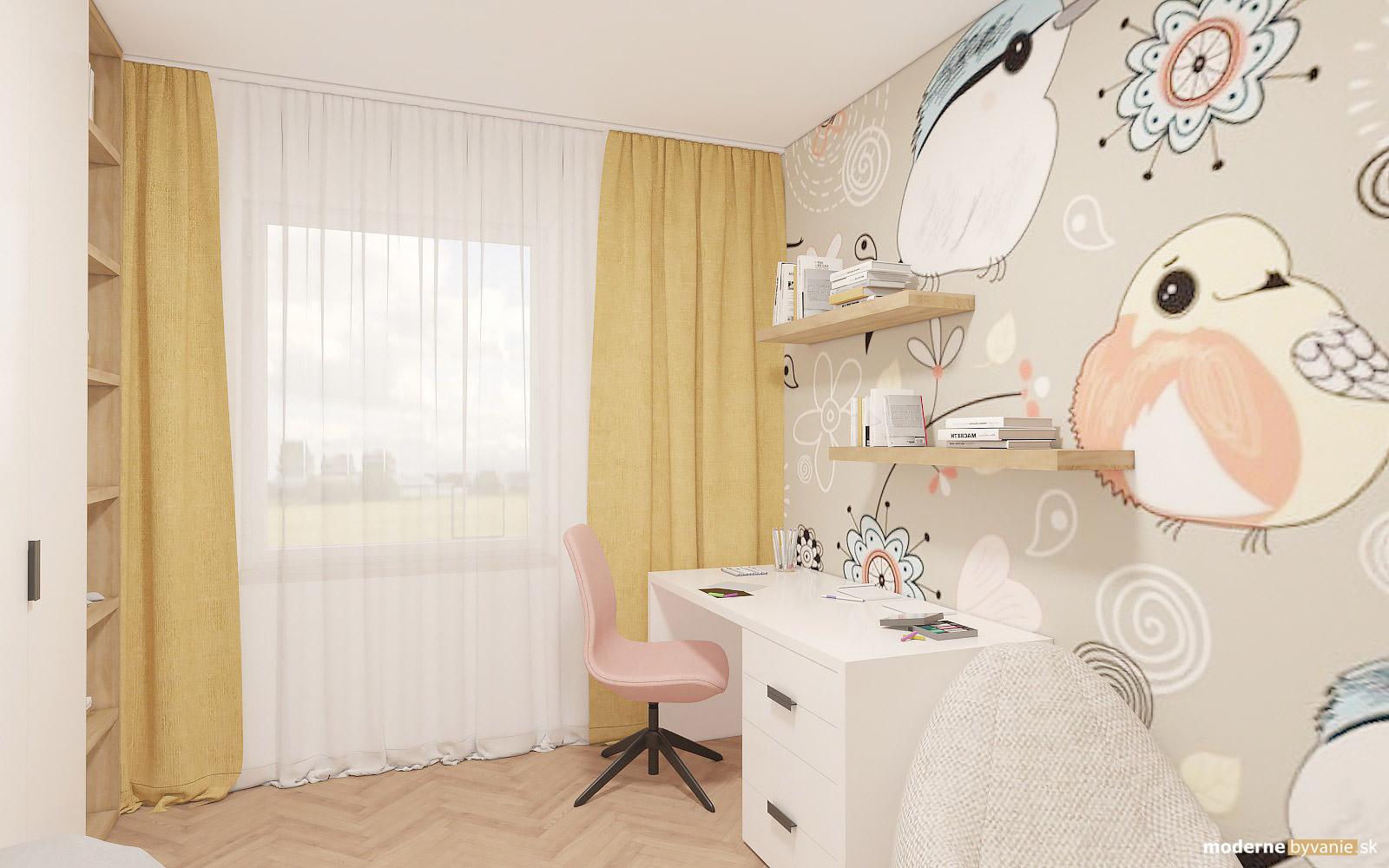 Návrh interiéru-Detská izba-Návrh interiéru domu v Cíferi